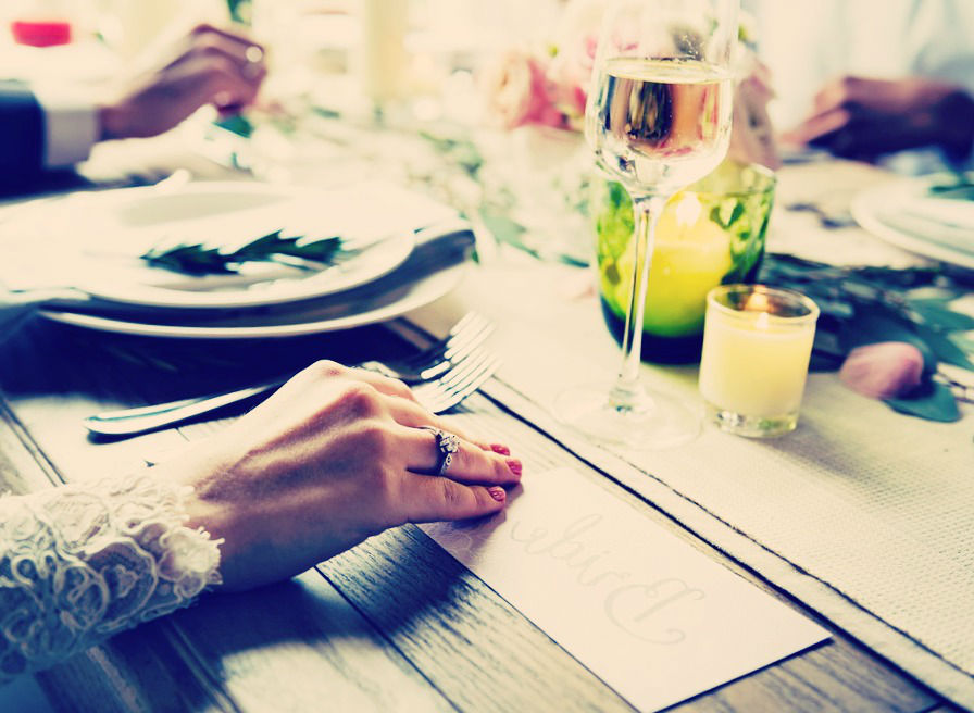 chemin table mariage